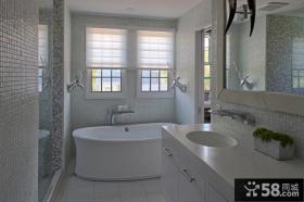 精美美式风格装修图片 卫生间图片