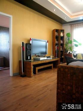 简约中式风格客厅背景墙装修效果图