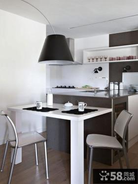 别墅厨房餐厅一体装修设计效果图