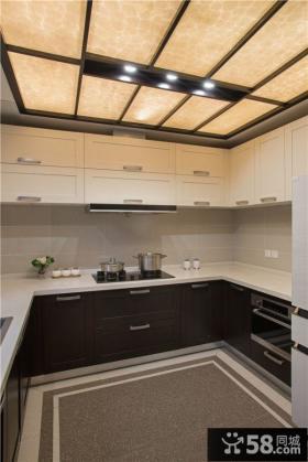 美式混搭风格140平米四室两厅装修图片大全