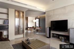 现代风格瓷砖电视背景墙装修效果图