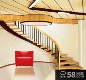 室内实木楼梯效果图