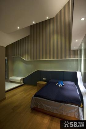 现代风格别墅卧室墙纸效果图