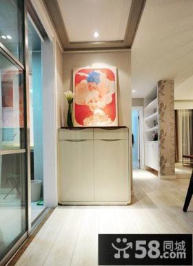 家庭玄关柜装饰画效果图