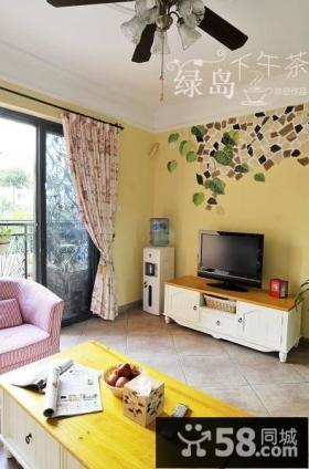客厅大理石电视背景墙装修效果图