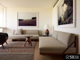 极简主义风格沙发背景墙装修效果图