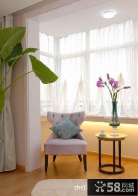 小阳台窗帘装修图片