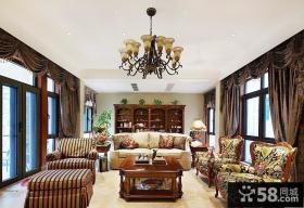美式风格整体客厅家具摆放效果图片