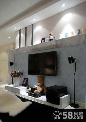时尚客厅电视背景墙装修图片欣赏