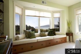 欧式简约别墅卧室飘窗装修设计