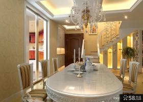 欧式风格复式餐厅装修效果图