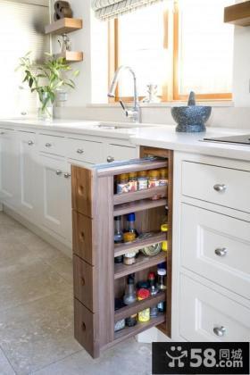 欧式风格厨房储物柜图片欣赏