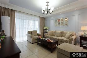 简美式风格一室一厅装修效果图欣赏