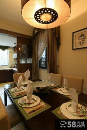 150平简复式 中式古典餐厅吊顶装修效果图
