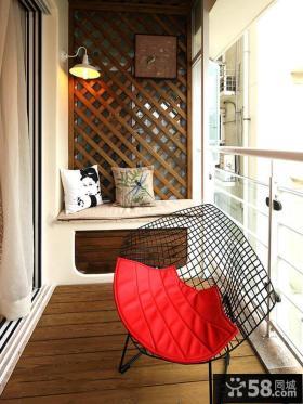 中式家装设计阳台图片