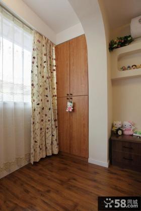 室内阳台落地窗窗帘装修效果图