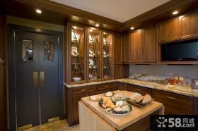 美式风格厨房样板房效果图