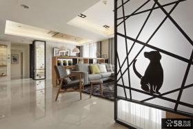简约家居客厅过道吊顶设计图片