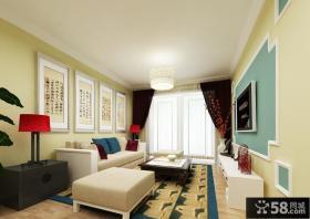 80平米小户型中式客厅装修效果图