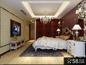 欧式主卧室电视背景墙装修效果图欣赏