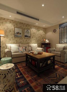 混搭美式风格家居客厅图片大全