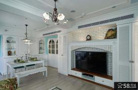 地中海简约风格设计两居室装修效果图片