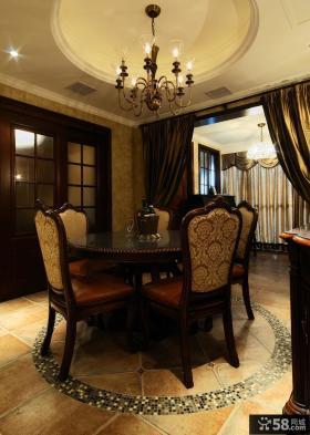 美式新古典风格三室两厅餐厅装修效果图