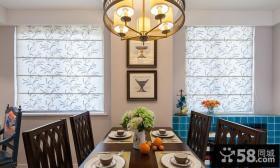 简欧复式室内家居餐厅效果图片