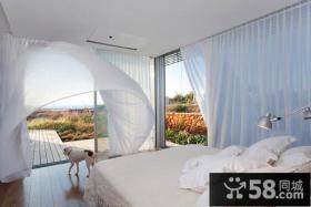 170万打造现代风格卧室窗帘装修效果图大全2014图片