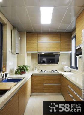 简约小户型厨房集成吊顶效果图