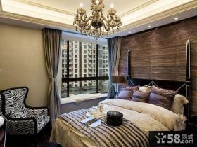 欧式新古典两室两厅卧室飘窗设计