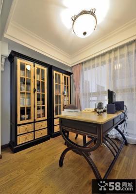 复古风格美式书房设计