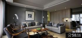 后现代美式风格三室两厅装修效果图