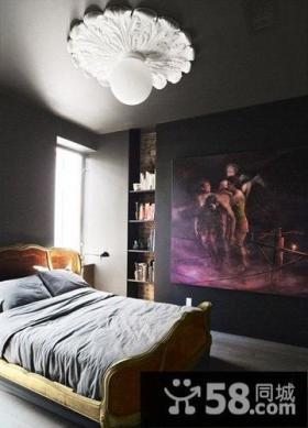 独特原木复式公寓卧室设计