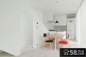 复式楼纯洁白色卧室装修效果图 洁净无瑕