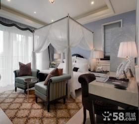 简欧式二居室卧室装修效果图