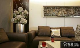 后现代风格客厅墙面装饰画图片