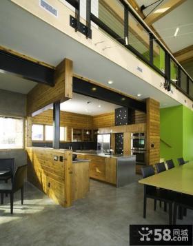 现代美式风格家具餐厅装修效果图