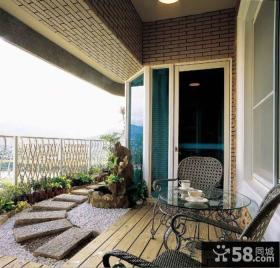 美式设计装修开放式阳台图片大全
