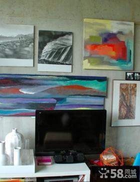 现代风格碎石子电视背景墙装修效果图