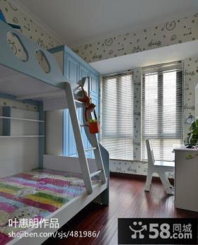 儿童房双层床装修效果图
