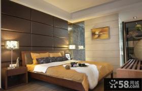 现代简约卧室软包背景墙