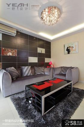 新房客厅吊顶沙发背景墙欣赏