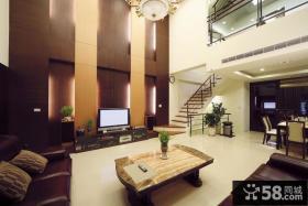 现代复式装修客厅图片大全