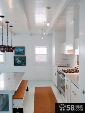开放式厨房橱柜大理石台面图片