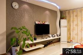 现代家装电视背景墙壁纸效果图