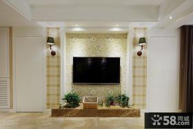 优质美式客厅电视背景墙设计图片欣赏