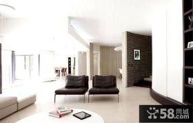 现代设计风格复式客厅设计装修效果图