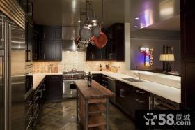 60平小户型美式风格厨房橱柜装修 小资情调