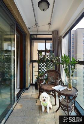 中式家装设计阳台图片大全